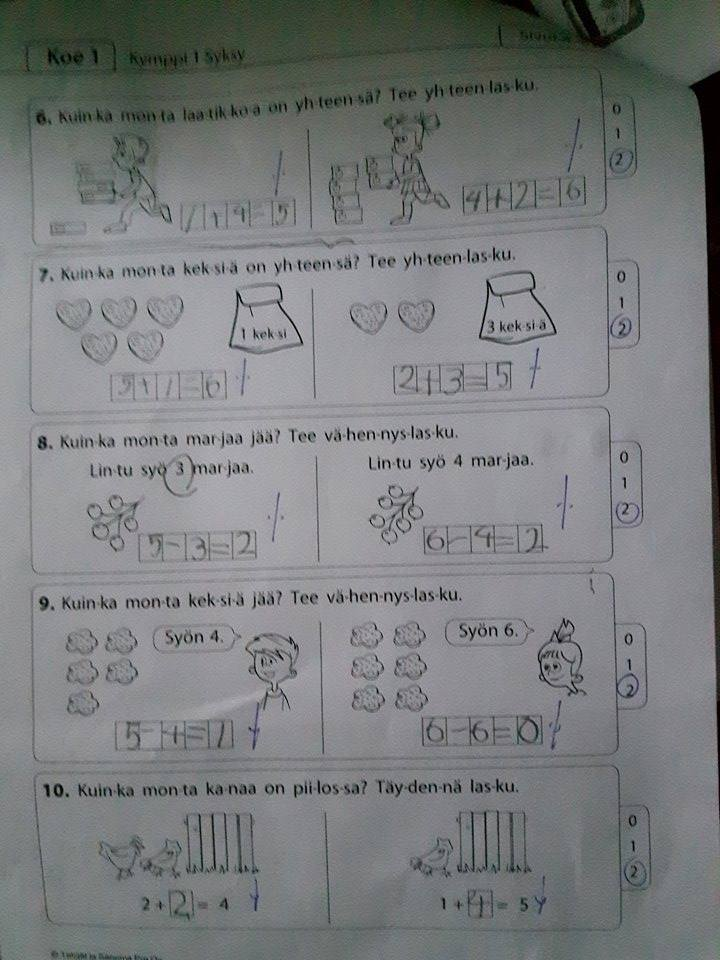 First Grade Math Tests in American and Finnish Classrooms